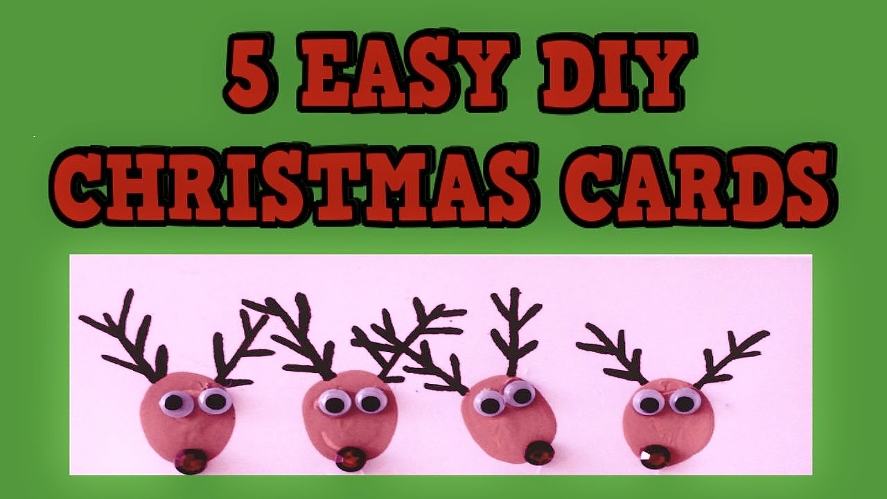 5 easy diy christmas cards 2015 easy tutorial card ideas for Christmas ideas for christmas cards