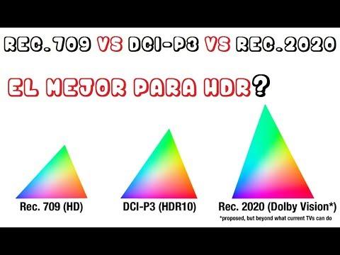 Espacio de color DCI-P3 vs Bt.2020 en HDR | Samsung MU6103 UHD Tv