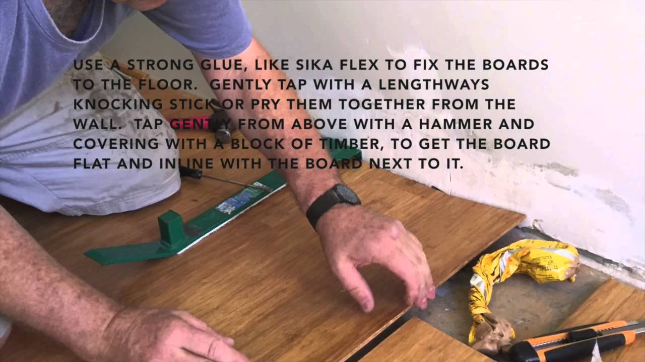 How To Fix A Water Damaged Timber Or Bamboo Floor Youtube
