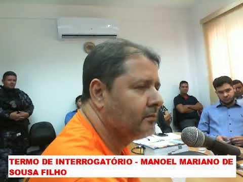 Depoimento e interrogatório de Junior do Nenzin perante o juiz em Barra do Corda