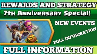 Upcoming Events 7 Th Anniversary Special full information in Clash of Clans