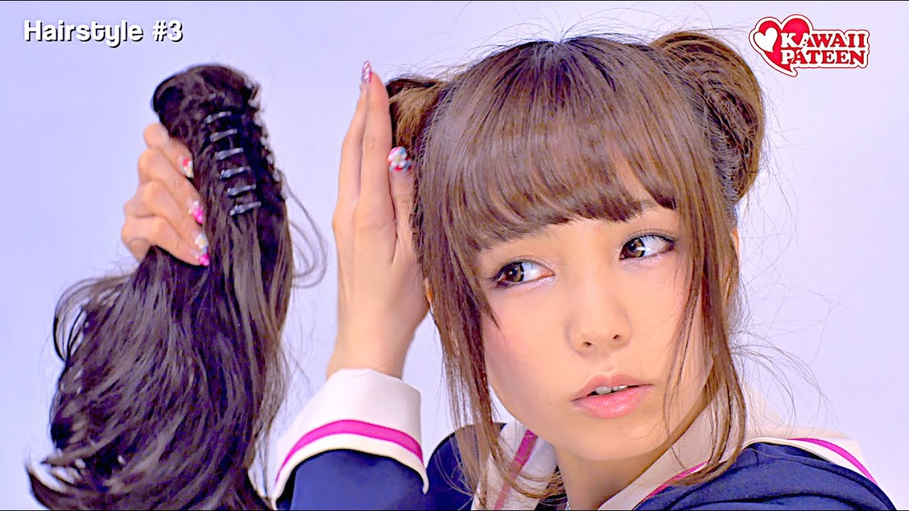 3 Japanese Schoolgirl Hairstyles How To Tutorial By Kawaii Fashion