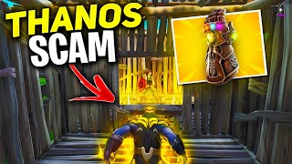 *NEW SCAM* The THANOS Scam! (Scammer Gets Scammed) In Fortnite Save The World Pve