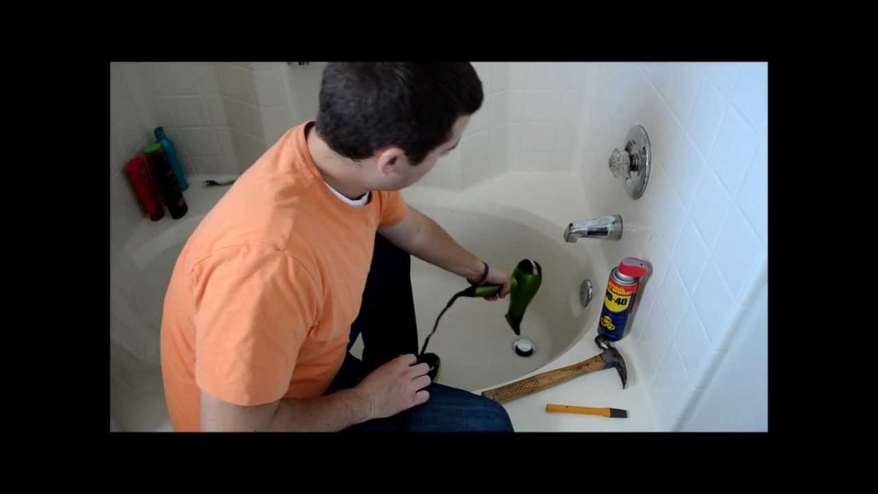 Removing A Broken Tub Drain   YouTube
