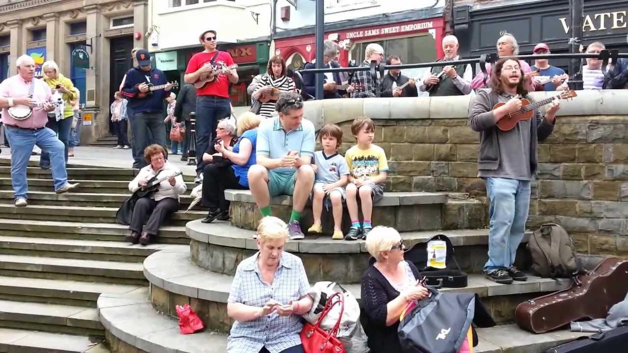 Ukelele Flash Mob Durham 7 7 2012 Youtube