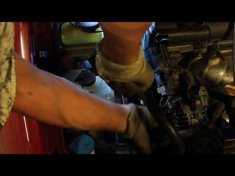 How to change multi belt on Toyota Avensis 2001 Part 2.