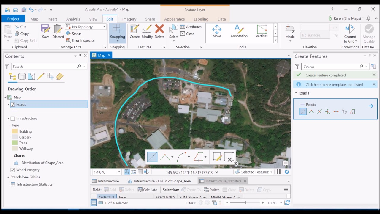 Creating Road Polygons from Lines - Using the Buffer Tool in ArcGIS Pro