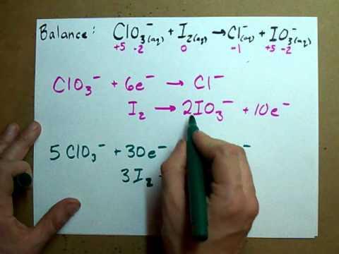 Balance a Redox Reaction (ACIDIC solution)
