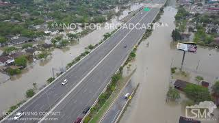06-20-2018 Mercedes, TX Aerial views from drone of flooding with some flooding clips