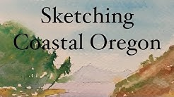 How to Watercolour Sketch the Oregon Coast Watercolor Tutorial Sketching Coastal Art Artwork