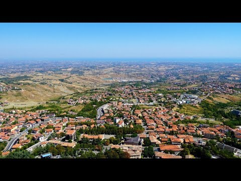 Aerial view of San Marino from Monte Titano