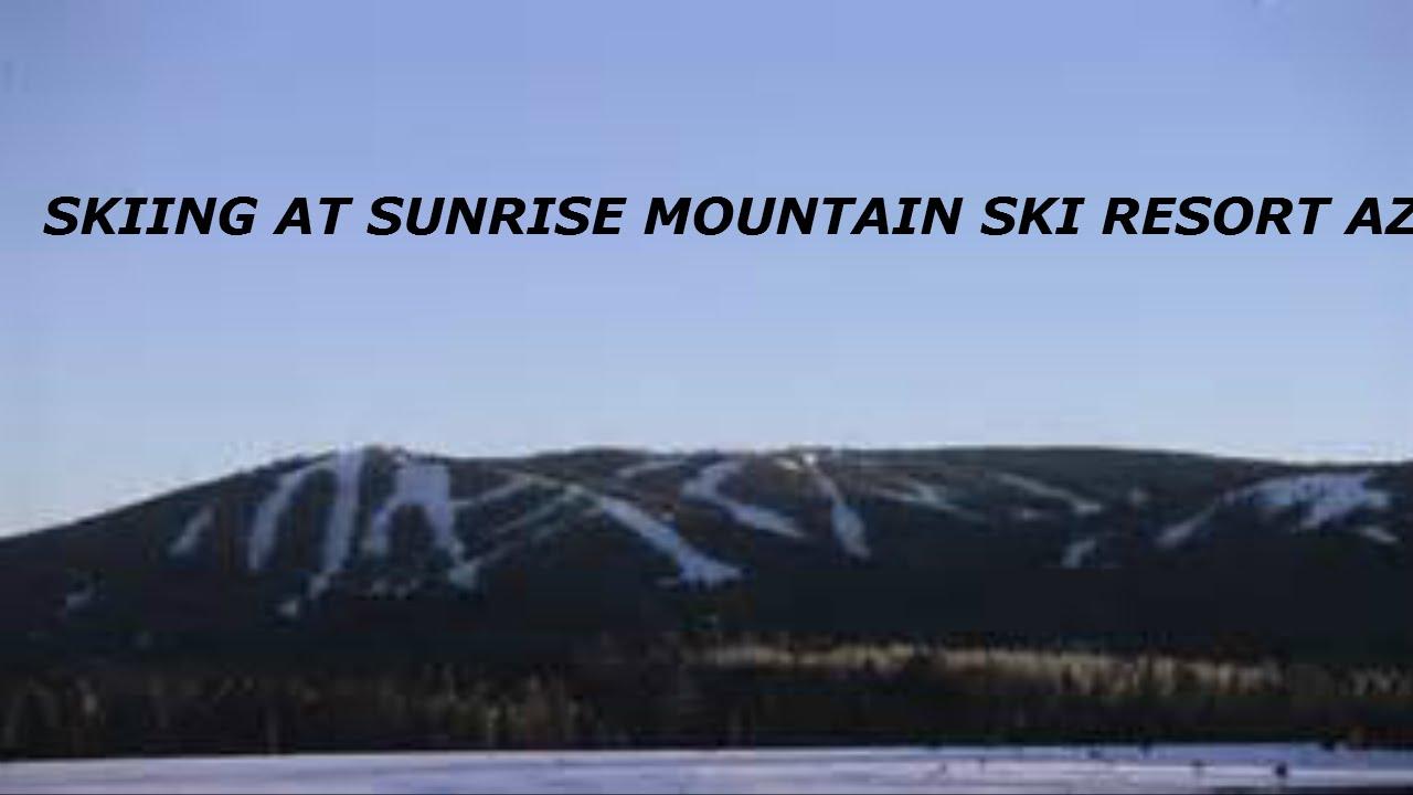 skiing at sunrise mountain ski resort in greer az - youtube