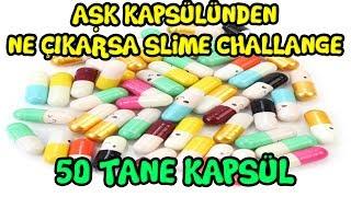 50 Tane Aşk Kapsülünden Ne Çıkarsa Slime Challenge - Love Capsule Slime Challenge