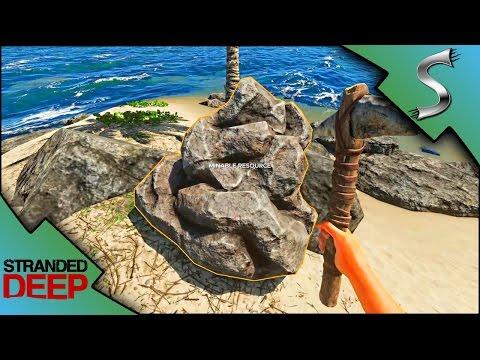 NEW MINING MECHANIC! MINING STONE & CLAY! SHARK ATTACK! - Stranded Deep [Gameplay E9]