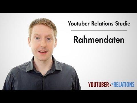 Youtuber Relations Studie - Teil 13: Rahmendaten
