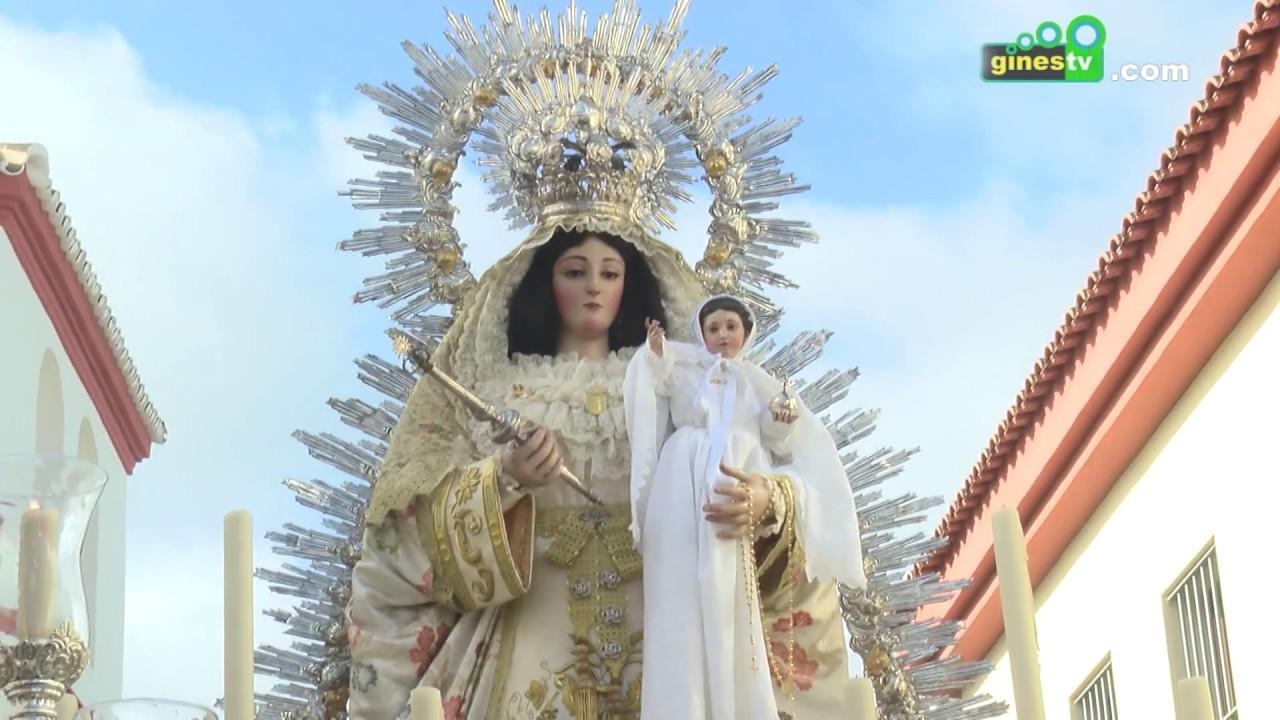 Procesión de Nuestra Señora de Belén, Patrona de Gines, con motivo de la Candelaria 2017