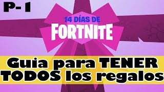 FORTNITE FREE GIFTS 🎁🎁 HOW TO GET ALL 14 DAYS OF FORTNITE GIFTS - PART 1