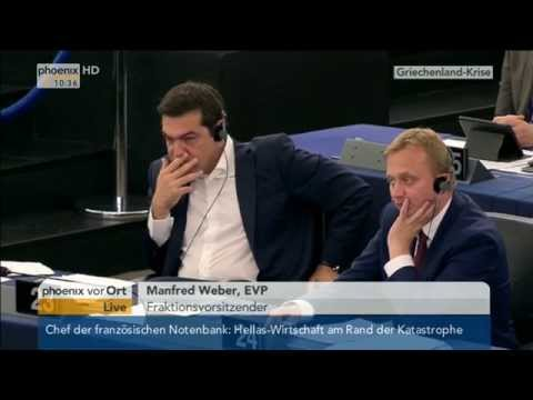 Debatte im EU-Parlament zur Griechenlandkrise Teil 1 am 08