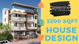 40 Feet  House / Home Design Elevation, 3D view & Walkthrough