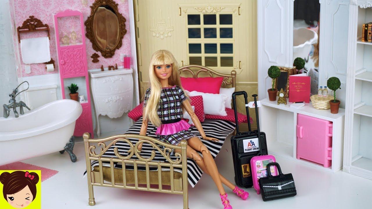 Barbie hotel habitacion con ba o y cocina miniaturas para for La mansion casa hotel telefono