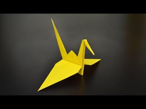 Origami-Anleitung: Kranich - YouTube | 360x480