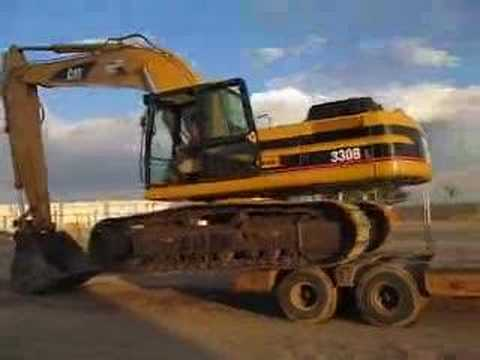 Loading an Excavator to LowBoy