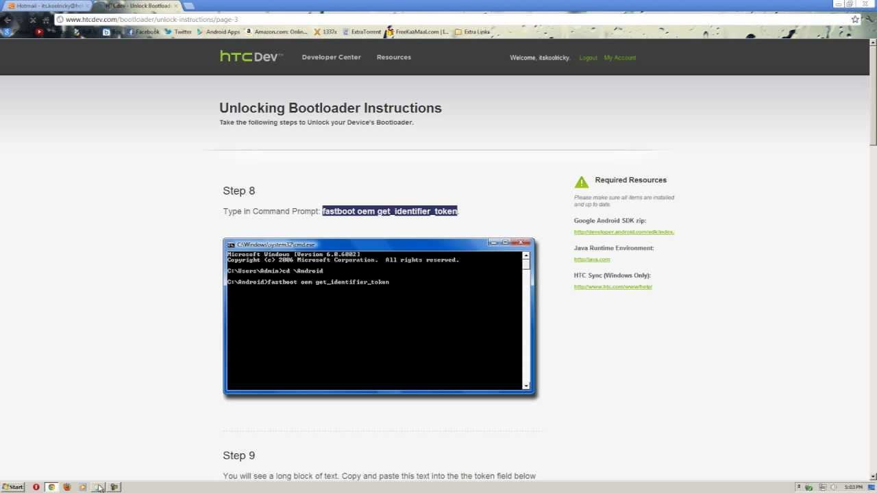 How To: Unlock HTC Bootloader