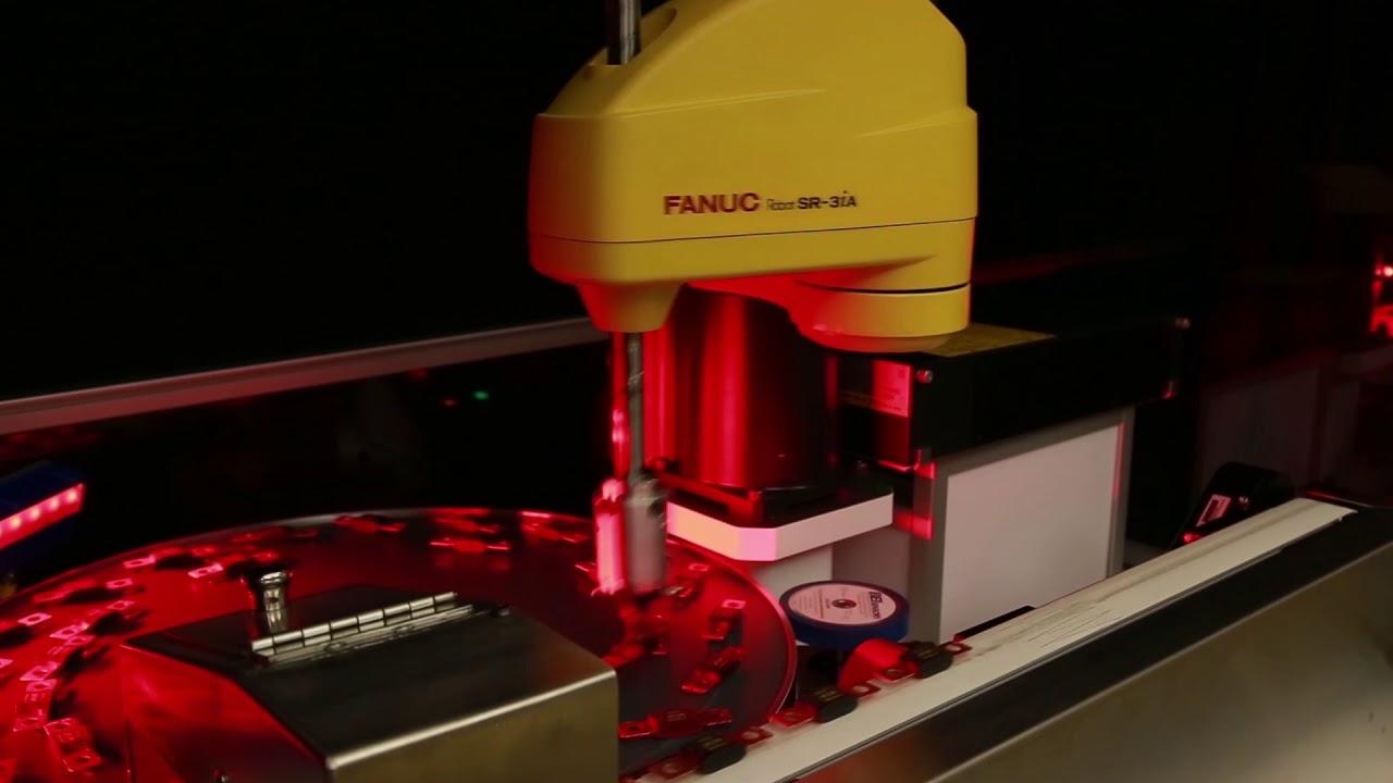 New FANUC SR-3iA SCARA Robot Performs High-speed Part Arrangement Through  Visual Circular Tracking