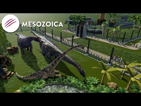Building a Park Filled With Dinosaurs! - Mesozoica Gameplay
