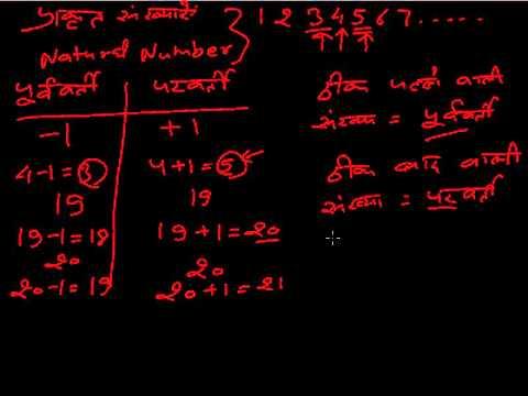natural numbers in Hindi (प्राकृत संख्याएँ)