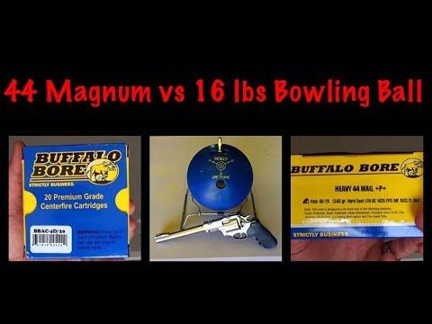44 Magnum vs 16 lbs Bowling Ball