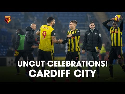 CELEBRATIONS UNCUT | DEULOFEU'S PREMIER LEAGUE HAT-TRICK AT CARDIFF! 🔥