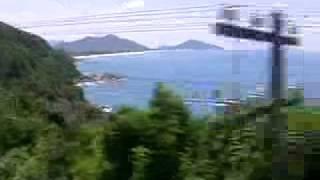 A train trip in Vietnam