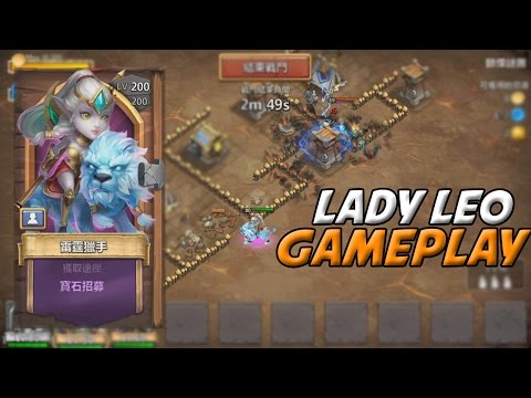 Castle Clash Lady Leo Gameplay! (In Action)