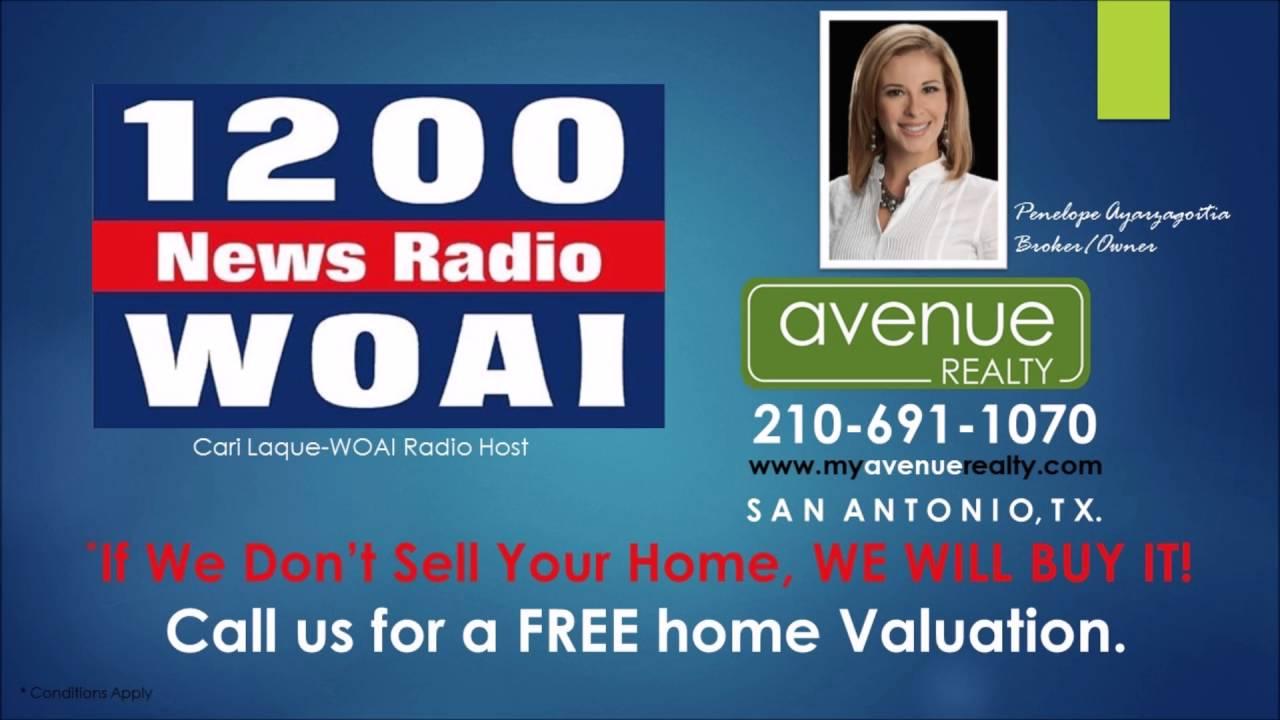 Penelope Ayarzagoitia Avenue Realty LLC/San Antonio, TX  1200 AM WOAI with  Cari Laque