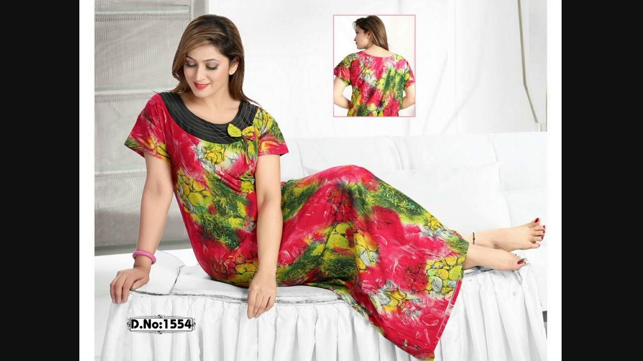 ccf1c832d8 Buy Cotton night gown 12 Pcs Catalog at Wholesale Price - YouTube
