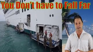 Elderly woman fall off cruise ship