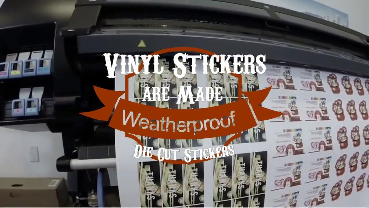 Custom outdoor weatherproof stickers printing cheap die cut stickers uk