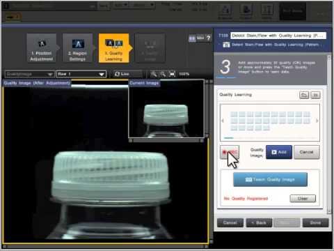 Keyence Cv X100 Auto Teach Youtube
