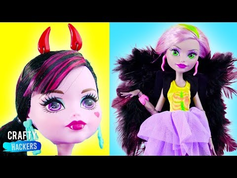 10 Monster High Doll Hacks And Toy Crafts