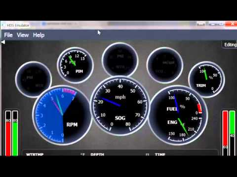 Lowrance Simrad Gauge Page Single Engine Gauge Youtube