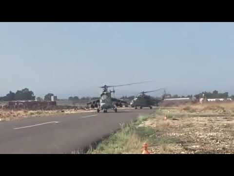 The Russian Air Force raids terrorists in Syria