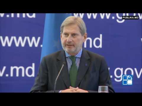 Pavel Filip și Johannes Hahn au semnat un acord prin care UE acordă Moldovei mai mulţi bani