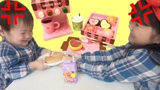 おやつのとりあいはダメ!マザーガーデン ドーナツショップのおもちゃでおままごと!pretend play Donut shop Toys