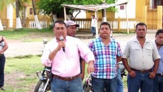 Reunión Plaza Central con el Pueblo de Taxisco, sobre el tema de la Minería.