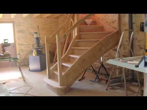 Escalier En Chene Choix Du Bois Delignage Realisation Youtube