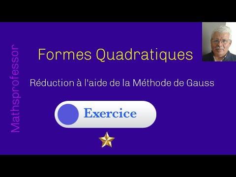 Réduction Des Formes Quadratiques Par La Méthode De Gauss