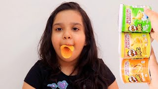 Fingers Family Kid Song Colorful pringles Cute shfa and kid