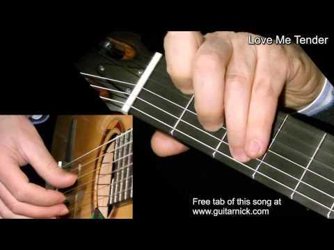 LOVE ME TENDER: Fingerpicking Guitar Lesson + TAB By GuitarNick