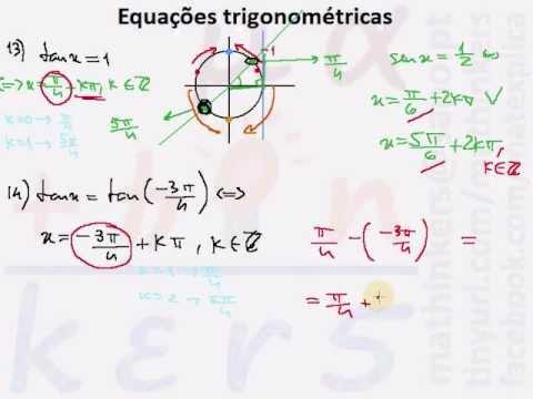 Equações trigonométricas Matemática A, 11.º ano HD